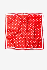 Red Polyester Tossed Hearts Neckerchief