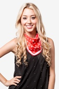 Tossed Hearts Red Neckerchief by Scarves.com