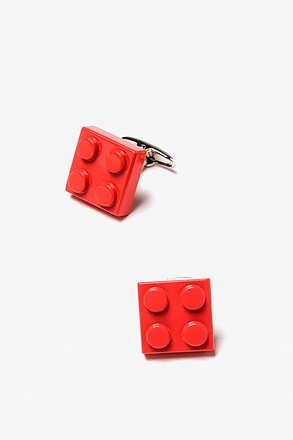 Building Blocks Red Cufflinks