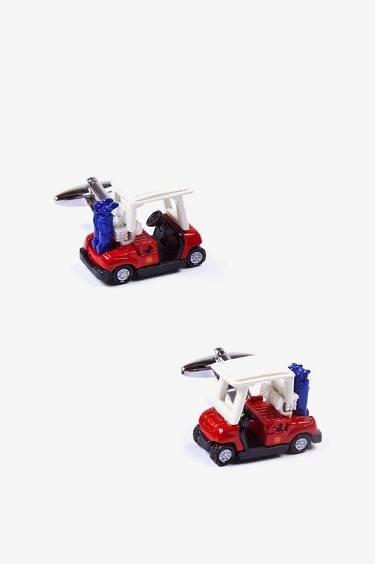 Golf Carts Cufflink by Alynn Novelty