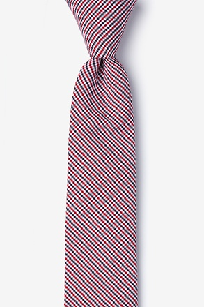 Preston Seersucker Skinny Tie