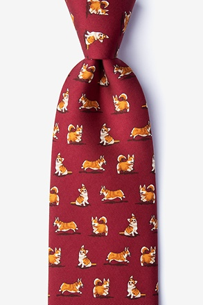 _A Rowdy of Corgis Extra Long Tie_