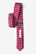 American Flag History Red Skinny Tie Photo (1)