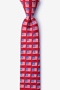 American Flag History Red Skinny Tie Photo (0)