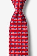 American Flag History Red Tie Photo (0)