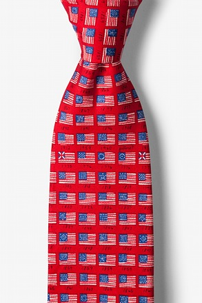 _American Flag History Red Tie_