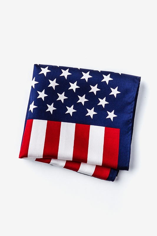 American Flag Red Pocket Square