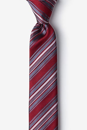 Banks Red Skinny Tie