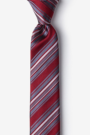 _Banks Red Skinny Tie_