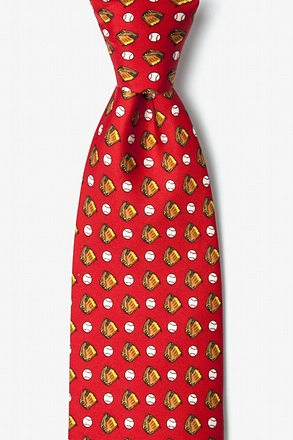 Baseball & Gloves Tie