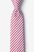 Red Silk Bear Island Extra Long Tie