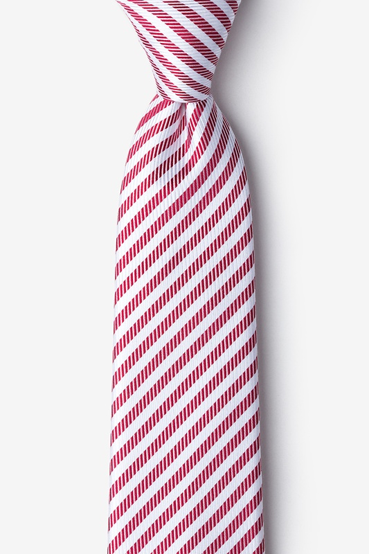 Bear Island Red Extra Long Tie Photo (0)