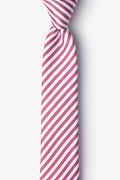 Red Silk Bear Island Skinny Tie