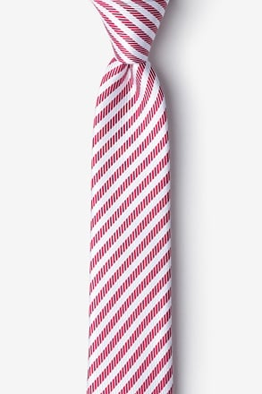 _Bear Island Red Skinny Tie_