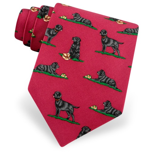 Black Lab Tie by Alynn Dog Ties