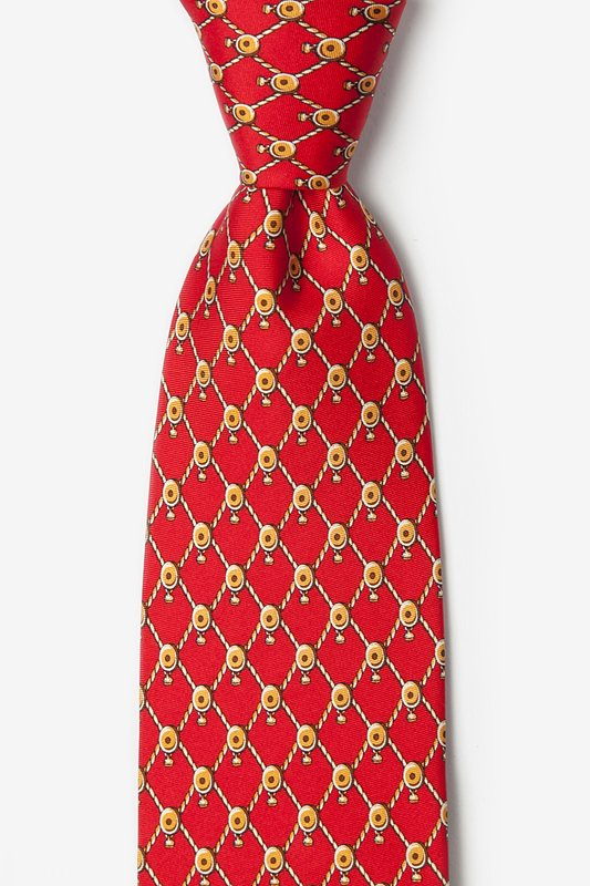 Block & Tackle Red Tie Photo (0)