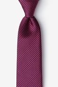 Red Silk Cayman Extra Long Tie