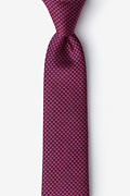 Red Silk Cayman Skinny Tie