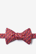 Red Silk Cold-blooded Butterfly Bow Tie