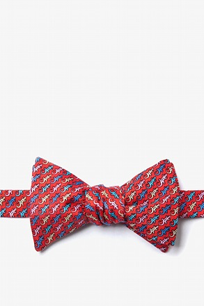 Cold-blooded Red Self-Tie Bow Tie