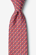 Red Silk Cold-blooded Tie
