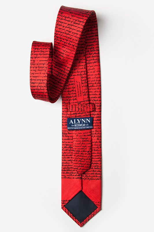 Declaration of Independence Red Tie Photo (2)