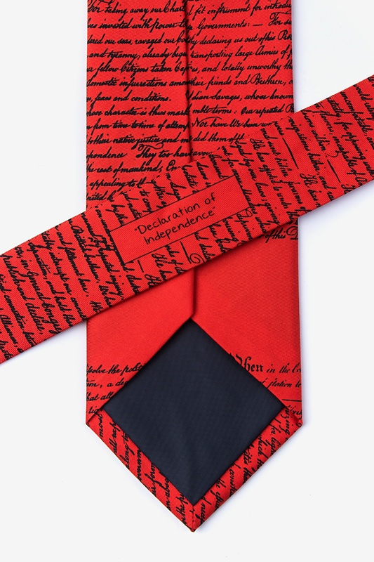 Declaration of Independence Red Tie Photo (4)