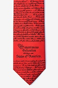 Red Silk Declaration of Independence Tie