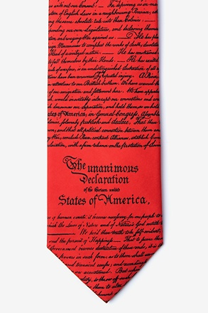 Declaration of Independence Red Tie