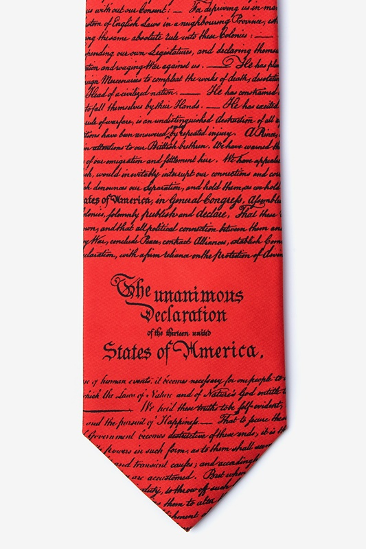 Declaration of Independence Red Tie Photo (0)
