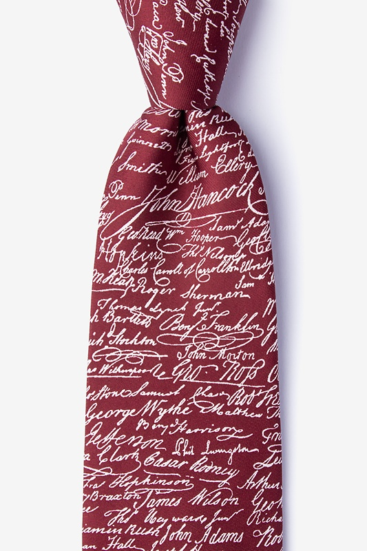 Declaration Signers Extra Long Tie Photo (0)