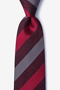 Red Silk Dee Extra Long Tie