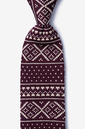 Fair Isle Red Knit Tie