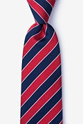 Red Silk Fane Extra Long Tie