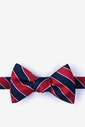 Red Silk Fane Self-Tie Bow Tie