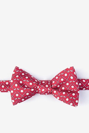 Goin' Clubbing Red Self-Tie Bow Tie