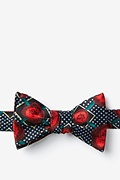 Red Silk Gonorrhea Butterfly Bow Tie