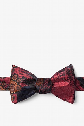 Herpes II Red Self-Tie Bow Tie