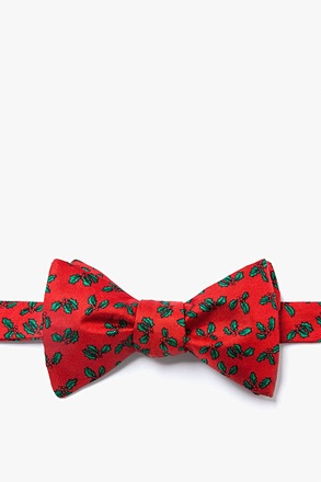 _Holly Mini Red Self-Tie Bow Tie_