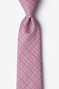 Red Silk Java Extra Long Tie