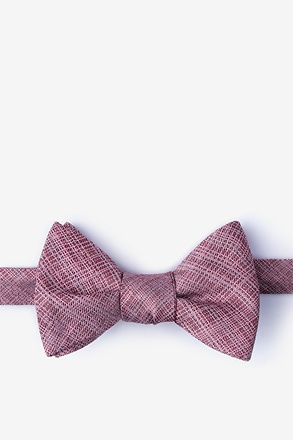 _Java Red Self-Tie Bow Tie_