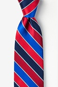 Red Silk Know the Ropes Extra Long Tie