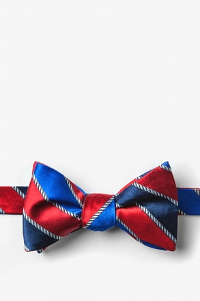 _Know the Ropes Red Self-Tie Bow Tie_