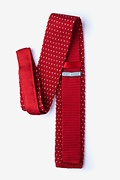 Laos Red Knit Tie Photo (1)