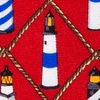 Red Silk Lighthouses Tie