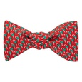 Micro Candy Canes Self Tie Bow Tie by Alynn Bow Ties
