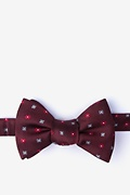 Red Silk Monkey Bow Tie
