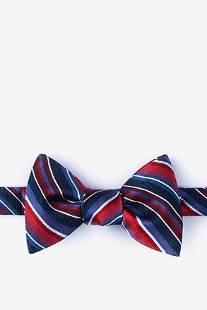 _Moy Red Self-Tie Bow Tie_