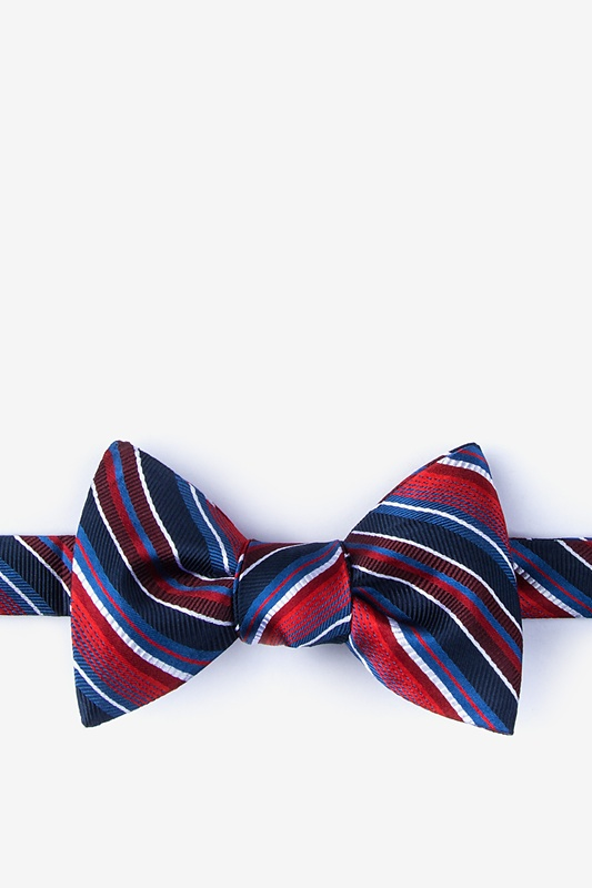 Moy Red Self-Tie Bow Tie Photo (0)