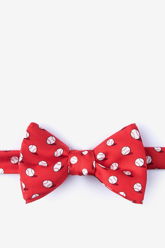No Hitter Red Self-Tie Bow Tie Photo (0)